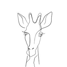 One line giraffe painting Framed Art Print by KatrinPo - Vector Black - MEDIUM Tattoo Sketches, Tattoo Drawings, Drawing Sketches, Art Drawings, Unique Tattoos, Small Tattoos, Tiny Tattoo, One Line Animals, Giraffe Painting