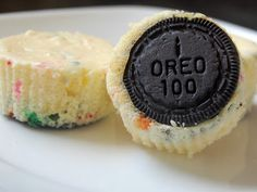 Cheesecake cake batter cupcakes with oreo cookies for a crust. I think I might make a half batch for dessert tonight!