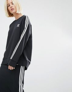 Buy adidas Originals Three Stripe Sweatshirt at ASOS. With free delivery and return options (Ts&Cs apply), online shopping has never been so easy. Get the latest trends with ASOS now. Hoodie Sweatshirts, Asos Sweatshirt, Zip Up Hoodies, Adidas Originals, Adidas Models, Latest Fashion Clothes, Fashion Online, Daily Fashion, Fitness Fashion