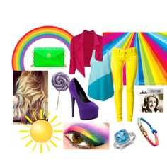 """Sunshine,Lollipops, and Rainbows"" by beautiful1-d on Polyvore"