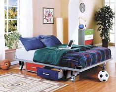 """""""Where to find great teen boy bedroom decor items"""" aims to be your one stop resource for all things related to teen boy bedrooms. This teen boy. Boys Bedroom Furniture, Boys Bedroom Decor, Home Furniture, Bedroom Ideas, Furniture Stores, Boy Bedrooms, Locker Furniture, Powell Furniture, Childrens Bedroom"""
