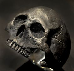 Skull Ring,Half Jaw, Mens Silver Skull Ring, Biker ring, Rocker ring, Goth ring, Custom Sterling Silver Skull Ring,.925 by Johnny10Rings on Etsy https://www.etsy.com/listing/239422566/skull-ringhalf-jaw-mens-silver-skull
