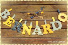 Varal letras de tecido - www.casa18.com.br