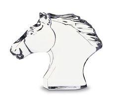 BACCARAT CHEVAL HORSE S HEAD  gift  horse  figurine  woodrowjewelers Horse  Head 07a7ea8d82