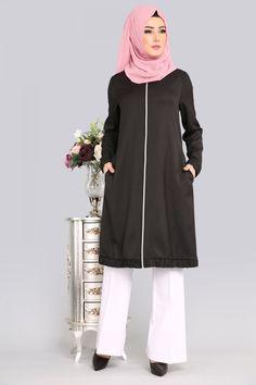 ** YENİ ÜRÜN ** Fermuarlı Tunik Siyah Ürün kodu: BH2338 --> 79.90 TL