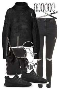 """""""Untitled #19145"""" by florencia95 ❤ liked on Polyvore featuring Topshop, Helmut Lang, STELLA McCARTNEY, H&M, adidas, Simply Vera, M.N.G, Monica Vinader and Monki"""