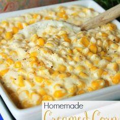 Creamed Corn Creamed Corn Recipe in the Crockpot – VIDEO – Mostly Homemade Mom Cornbread Casserole, Pierogi Casserole, Cauliflower Casserole, Potato Casserole, Italian Casserole, Zucchini Casserole, Zucchini Bread, Pineapple Pretzel Salad, Homemade Cream Corn
