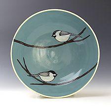Chickadee Bowl by Lacey Goodrich (Ceramic Bowl)