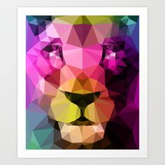Wild Neon 01a. Art Print by Three Of The Possessed - $17.68