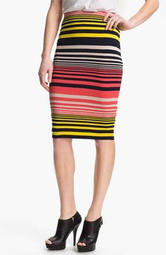 Three Dots Stripe Tube Skirt available at #Nordstrom