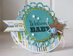 Patterned Paper : MFT Wobble Card and Tutorial