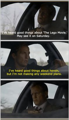 True Detective meme:  On The Lego Movie .