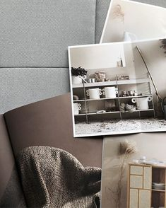 Hege Morris / Hege in France (@hegeinfrance)  minimal moodboard with natural colours and nature inspiration from Stockholm design fair