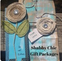 shabby chic gift gift packages using recycled materials and left overs from your craft stash. Shabby Chic Gifts, Shabby Chic Style, Shabby Chic Decor, Diy Craft Projects, Craft Tutorials, Fun Crafts, Amazing Crafts, Glue Gun Crafts, Craft Stash