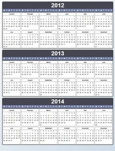 Yearly Calendar 2012 2013 I'm particular about needing my Monday first calendars! Printable Lables, Free Printable Calendar, Free Printables, Daily Planners, Yearly Calendar, Planner Inserts, Digital Stamps, Filofax, Getting Organized