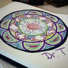 Coloured mandala by: Dr. Techno  Also have a look at my instagram: @Art_of_drt
