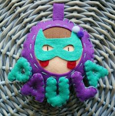 Nombre para habitación infantil Superheroína
