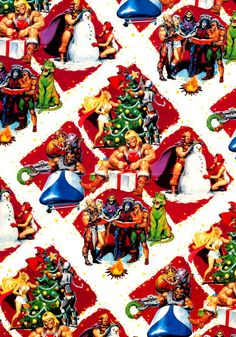 Masters of the Universe Christmas Gift Wrap Paper. Peace on Eternia.