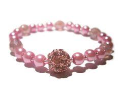 Pink Stretch Bracelet  Shamballa Arm candy  by TwinklePinkJewelry, €10.00