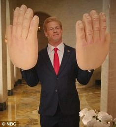 SNL airs skit in which Donald Trump imagines he's John Cena with giant hands   Daily Mail Online