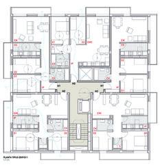 Social housing in Sentmenat - solução de escada