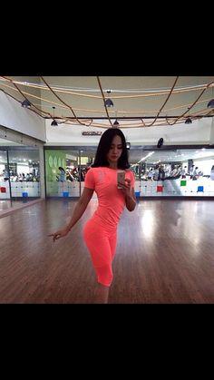 [ 핑크 스포츠티 + 핑크 7부 레깅스] Hot 핑크 ! Hot body ! sexy body #wow