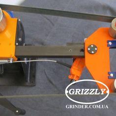 """горизонтальная подача ленты 2""""/72"""" Grizzly вид сверху"""
