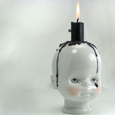 Qubus Little Joseph Candle Holder - Baby's Head Candle Holder: #porcelain #ceramic #pottery