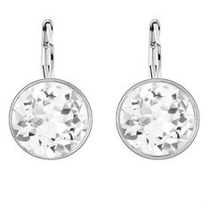 Swarovski Fashion Bijouterie Crystal White Gold Plated Dangle Drop Earrings Jewelry Earrings For Women //Price: $20.99 & FREE Shipping //     #accessories #necklaces #pendants #earrings #rings #bracelets