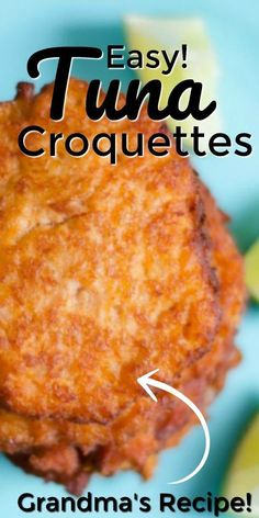This tuna croquettes recipe from Pint-sized Treasures is hands down my family's favorite recipe. This weeknight wonder cooks up in only minutes and tastes just like Grandma's! Add this recipe for tuna croquettes (or, as we say down south, Tuna Patties) to your weekly meal plan now! It should be considered a member of the clean plate club because of how good it is! The entire plateful disappears. Easy Tuna Recipes, Easy Casserole Recipes, Chef Recipes, Fish Recipes, Seafood Recipes, Easy Dinner Recipes, Cooking Recipes, Cooking Tips, Amigurumi