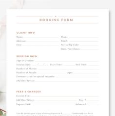 Client Booking Form For Photographers Photography Contract Photography Contract, Photography Pricing, Photography Packaging, Photography Business, Photography Tips, Photography Templates, Freelance Photography, Wedding Photography, Photography Studios