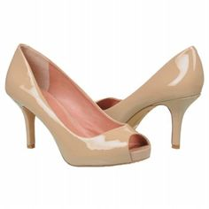 TREND ALERT! Nude, patent pumps are all the rage right now in NYC. Just bought these to go with my Oscar dress.