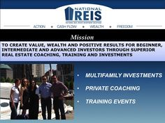 We are all about creating value for each real estate investor that we meet! You can find out about us here www.nationalreis.com