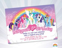 Hey, I found this really awesome Etsy listing at https://www.etsy.com/listing/238829964/my-little-pony-invitation-birthday