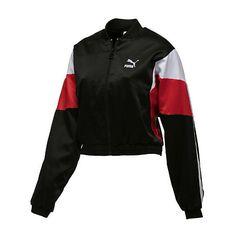SUPER PUMA Track Jacket (415695 PYG) ❤ liked on Polyvore featuring activewear, activewear jackets, vintage sportswear, tracksuit jacket, vintage track jacket, logo sportswear and track jacket