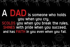 A dad isn't someone that gossips behind his children's back or ignores them because your tv shows are on. A dad doesn't treat his kids like an inconvenience & basically have nothing to do with them. A dad is supposed to know of their struggles or problems & help them. But you would only know that, if you actually talked with each of them but you can't be bothered. Then you complain when they have no respect for you as a dad, well you've done nothing to earn it.