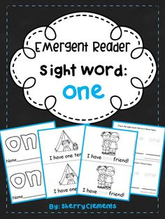Emergent Reader: Sight Word: ONE - Great for guided reading groups and introducing sight words - take home readers - kindergarten and first grade reading - camping theme $