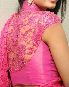 Best trending latest and stylish blouse designs for designer sarees for party wear and daily wear. Saree Blouse Patterns, Sari Blouse Designs, Blouse Styles, Lehenga Blouse, Dress Designs, Choli Designs, Look Fashion, Indian Fashion, Latest Fashion