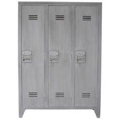 Houten locker grijs