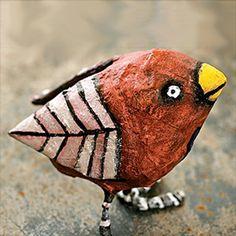 cute papier mache bird