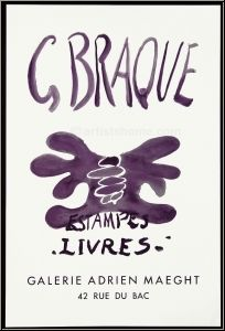 Georges Braque: Estampes - Livres, Galerie Adrien Maeght, Poster