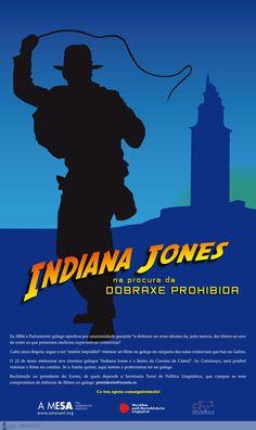 [A Mesa pola Normalización Lingüística, Mocidade pola Normalización Lingüística e APRADOGA, 2008] Indiana Jones, Dublin, Movie Posters, Finding Nemo, Nail, Movies, Santiago De Compostela, Film Poster, Popcorn Posters