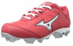 Mizuno Women's Finch Elite Switch Softball Cleat. As one of the most popular women's molded softball cleats on the market, the 9-Spike Finch Elite Switch is specifically designed for softball's primary running, batting and throwing motions. Its patented 9-Spike configuration is lightweight and comfortable with aggressive traction and stability.