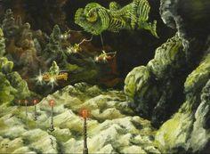 Ian S Bott - Artwork - Alien In Tow