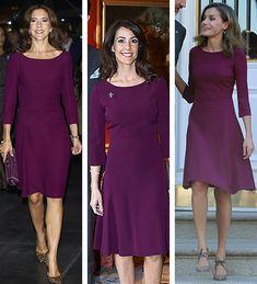 "gabriellademonaco: ""• Crown Princess Mary of Denmark: Hugo Boss 'Daperlina' Sheath Dress (10/2014) • Princess Marie of Denmark: Hugo Boss 'Kusima' Fitted Dress (04/2017) • Queen Letizia of Spain:..."