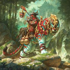 Pandaren Monk from World of Warcraft, perfect digital drawing by artist Veli Nystrom