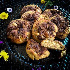 Cookies Sans Gluten, Dessert Sans Gluten, Caramel Mou, Cookies Banane, Tandoori Chicken, Cookies Et Biscuits, Ethnic Recipes, Food, Gram Flour