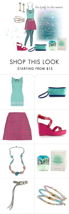 """Monster High inspired fashion: Lagoona Blue"" by ida-mccosh ❤ liked on Polyvore featuring Rosemunde, Mrkt, Motel, Lanvin, Pearlz Ocean, Van Cleef & Arpels, Donna Karan, Miss Selfridge and Elizabeth Cole"