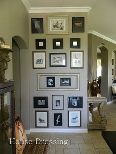 Floor To Ceiling Gallery Wall Collage Frames On Groupings Framed