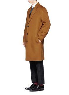 ACNE STUDIOS - Charles wool-cashmere coat | Neutral and Brown Long Coats Coats | Menswear | Lane Crawford - Shop Designer Brands Online